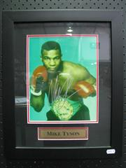 Sale 8125 - Lot 88 - Mike Tyson - signed photograph