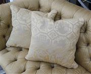 Sale 8205 - Lot 36 - A pair of gold cushions with lion, crown & shield motif
