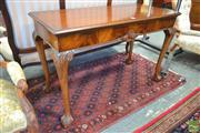 Sale 8282 - Lot 1098 - Georgian Style Carved Mahogany Side Table, with shell frieze and cabriole legs