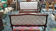 Sale 8328 - Lot 1068 - French Style Timber Queen Bed