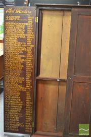 Sale 8338 - Lot 1050 - Large Timber Honours Board