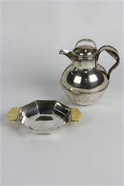 Sale 8384 - Lot 1 - English Hallmarked Sterling Silver Quaich & a Silver Plated Jug