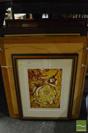 Sale 8458 - Lot 2079 - A group of (5) Original Linocuts by Dorothy Juknaitis (each signed, various sizes, framed)
