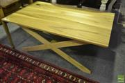 Sale 8532 - Lot 1401 - Timber Cross Base Coffee Table