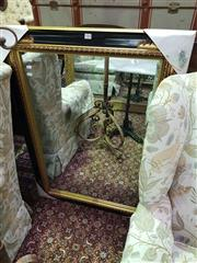 Sale 8657 - Lot 1060 - Gilt & Ebonised Framed Mirror