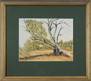 Sale 8753 - Lot 2049 - Maxwell Parry (Max) Price (1929 - 1998) - Old Warrior, Capertee Valley 19 x 25cm