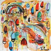 Sale 8837A - Lot 5027 - Yosi Messiah (1964 - ) - Colourful Harbour, 2019 102 x 102cm