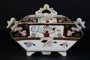 Sale 8989F - Lot 643 - Late c.19th lidded tureen (W37cm, some losses and crack to lid)