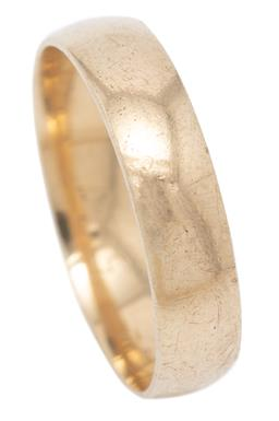 Sale 9209J - Lot 359 - A 9CT GOLD BAND; slightly rounded 4.8mm wide band of plain form, size S, wt. 3.35g.