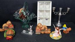 Sale 9254 - Lot 2115 - A collection of sundries including lamps, capodimonte basket and others