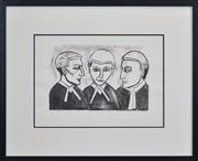 Sale 8401 - Lot 525 - Robert Dickerson (1924 - 2015) - Argument, 1990 31.5 x 48cm (frame size: 77 x 95cm)