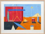 Sale 8415 - Lot 539 - Peter D Cole (1947 - ) - Big Red Wall, 1986 69 x 99cm