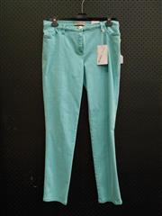 Sale 8451B - Lot 71 - Michelle Magic Pants in Turquoise Stretch Cotton, UK18