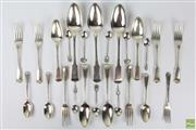 Sale 8572 - Lot 63 - George IV & Later Melange of Cutlery