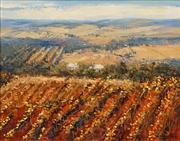 Sale 8583 - Lot 548 - Colleen M Parker (1944 - 2008) - Patterns of the Barossa 39.5 x 49.5cm