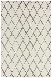 Sale 8651C - Lot 34 - Colorscope Collection; NZ Wool and Pure Silk - Cream/Grey Modern Geo Rug, Origin: China, Size: 160 x 230cm, RRP: $1899