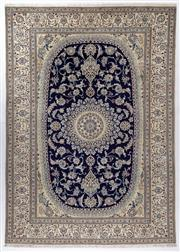 Sale 8760C - Lot 35 - A Persian Nain Super Fine Wool And Silk Inlaid Pile, 333 x 240cm