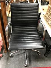Sale 8817 - Lot 1052 - Eames Style Office Chair with Leather Seat