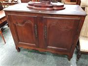 Sale 8848 - Lot 1061 - Late 19th Century French Oak Buffet, with two shaped panel doors (key in office)
