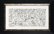 Sale 8924 - Lot 2057 - Desiderius Orban (1884 - 1986) Town Scene, Kyoto, 1962 ink on paper, 17x33cm, signed and dated -