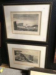 Sale 8903 - Lot 2075 - After Louis Auguste de Sainson (1800 - 1887) (2 works) Vue De LEntree Du Port Jackson & Vue Des Caps Du Port Jackson lithographs,...