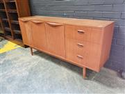 Sale 9056 - Lot 1040A - Teak Chiswell 3 Drawer Sideboard with 3 Doors (h:78 x w:167 x d:43cm)