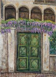 Sale 9042A - Lot 5012 - Stanley Perl (1942 - ) - Wisteria Time 76.5 x 55.5 cm