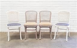 Sale 9102 - Lot 1225 - Set of four rattan back dining chairs
