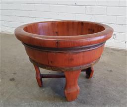 Sale 9137 - Lot 1062 - Timber elevated planter (h:36 x d:53cm)