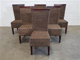 Sale 9151 - Lot 1179 - Set of six seagrass dining chairs (h106 x w50 x d56cm)