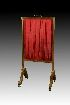 Sale 3691 - Lot 23 - A REGENCY MAHOGANY AND BRASS INLAID FIRESCREEN IN THE MANNER OF GEORGE BULLOCK