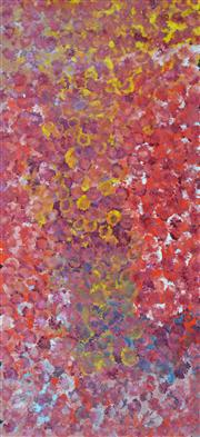 Sale 8068A - Lot 90 - Polly Ngale (1915 - ) - Bush Plums 130 x 60cm