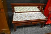 Sale 8105 - Lot 1001 - Mirrored Back Bench with Storage