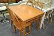 Sale 8156 - Lot 1053 - Kitchen Table And Four Chairs