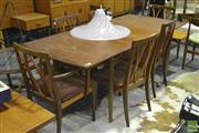 Sale 8275 - Lot 1021 - G-Plan teak dining table and set of 6 chairs