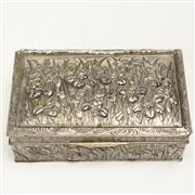 Sale 8412A - Lot 48 - Silver Plate Lided Box width - 23cm