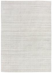 Sale 8651C - Lot 35 - Colorscope Collection; Wool and Bamboo Silk - Cream/Silver Lines Handknotted Rug, Origin: India, Size: 160 x 230cm, RRP: $2499
