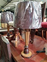 Sale 8740 - Lot 1177 - Pair of Italian Hand Painted Table Lamps (3463)