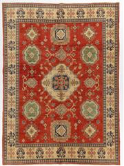 Sale 8800C - Lot 27 - An Afghan Kazak Hand Knotted Tribal Rug With Bold Geometric Motifs, 216 x 297cm