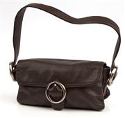 Sale 9090F - Lot 144 - A OROTON SHOULDER BAG in soft brown leather with magnetic closure. 25x16cm
