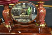 Sale 8115 - Lot 1004 - Timber Vanity Oval Mirror