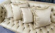 Sale 8205 - Lot 38 - Four gold striped cushions with fringing