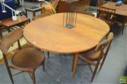 Sale 8275 - Lot 1052 - G-Plan teak dining table and set of 4 chairs