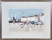 Sale 8382 - Lot 599 - Frank McNamara (1916 - 1995) - Port Scene 30.5 x 46.5cm