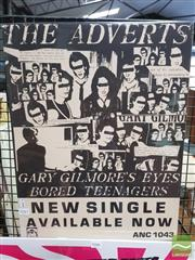 Sale 8421 - Lot 1045 - Vintage and Original The Adverts Promotional Poster (55.5cm x 43cm)