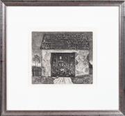 Sale 8517A - Lot 70 - J Pidiech? Czech - Woman at Work in Barn image size 22 x 25cm