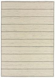 Sale 8651C - Lot 36 - Colorscope Collection; Wool And Viscose - Light Cream Lines Handloomed Rug, Origin: India, Size: 160 x 230cm, RRP: $1299
