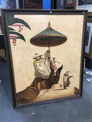 Sale 8690 - Lot 2001 - Artist Unknown - Travelling Emperor, oil on canvas laid on board, 168 x 137cm (frame size), no visible signature