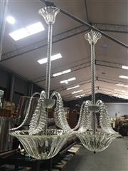 Sale 8859 - Lot 1014A - Pair of Murano Hanging Light Fittings