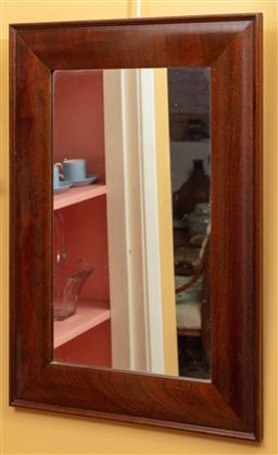 Sale 9120H - Lot 145 - A cedar framed mirror, 60cm x 42cm